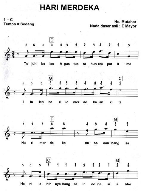 not lagu 17 agustus