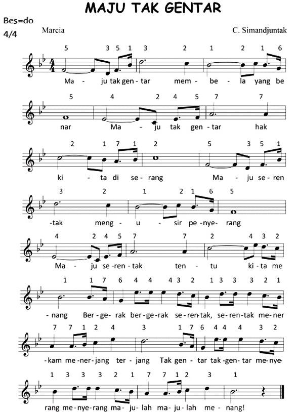 not lagu maju tak gentar