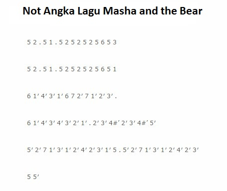 not lagu masha and the bear