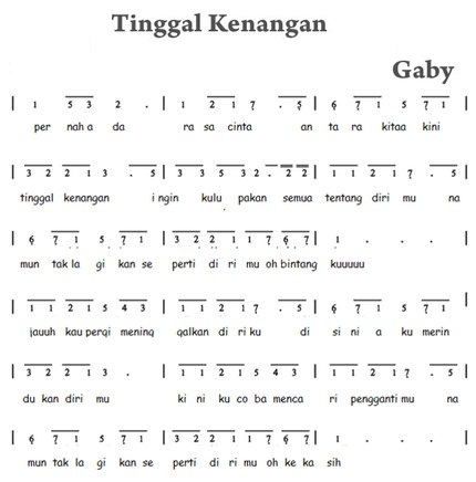 not pianika tinggal kenangan