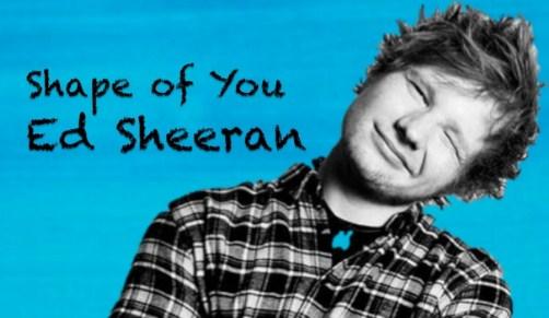 Not Angka Lagu Shape of You Ed Sheeran
