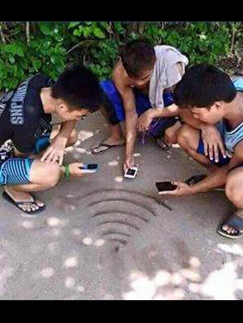 nyari sinyal wifi