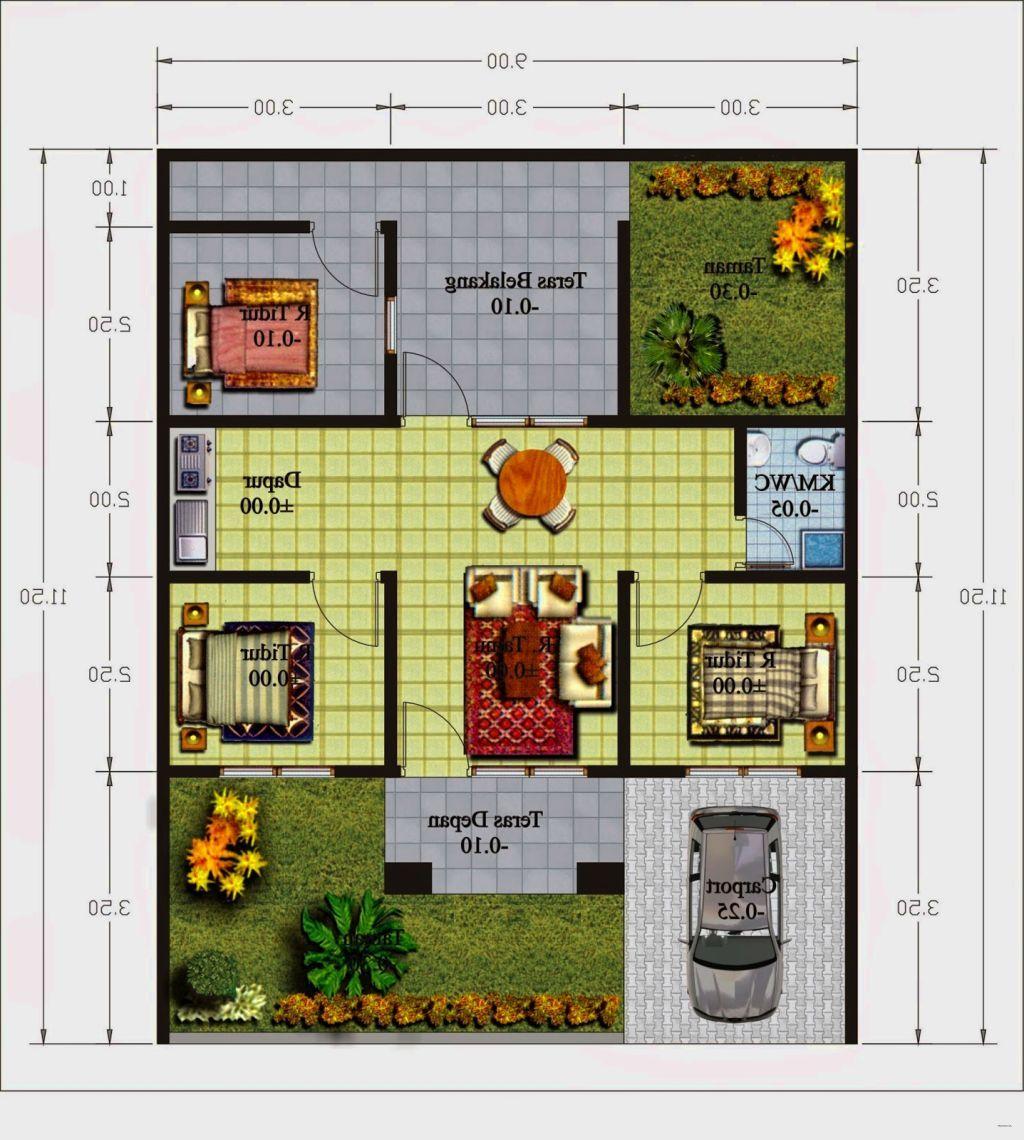 gambar dan denah rumah minimalis