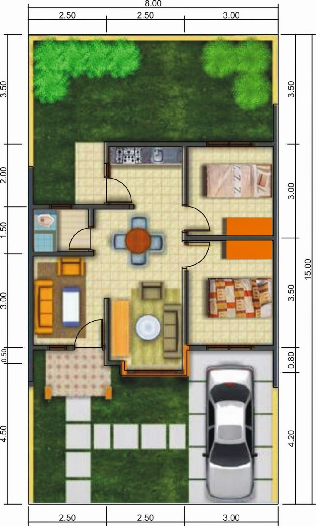 desain denah rumah minimalis