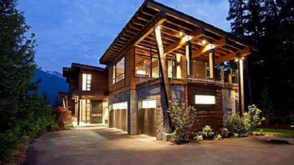 rumah minimalis di pegunungan