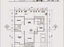 Inilah Gambar Denah Desain Rumah Minimalis Dengan 4 Kamar within Gambar Denah Rumah