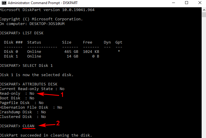 Cara Format Flashdisk white protected
