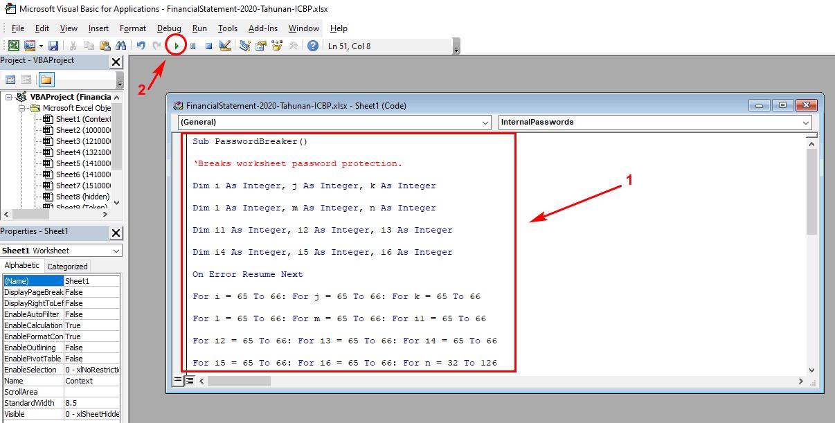 Membuka Password Excel yang lupa