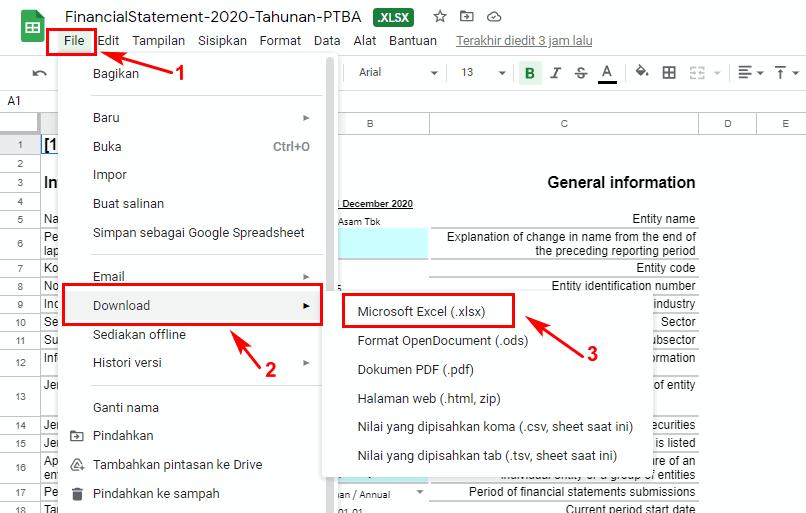 cara membuka password excel lewat google drive