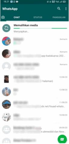 cara mengembalikan chat wa yang hilang tanpa dicadangkan