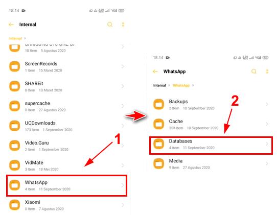 cara mengembalikan chat wa yang terhapus sebelum di backup