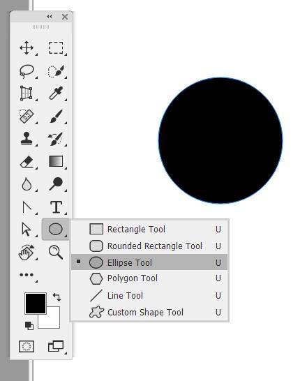 Cara Membuat lingkaran di Photoshop