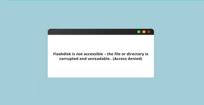 flashdisk is not accessible