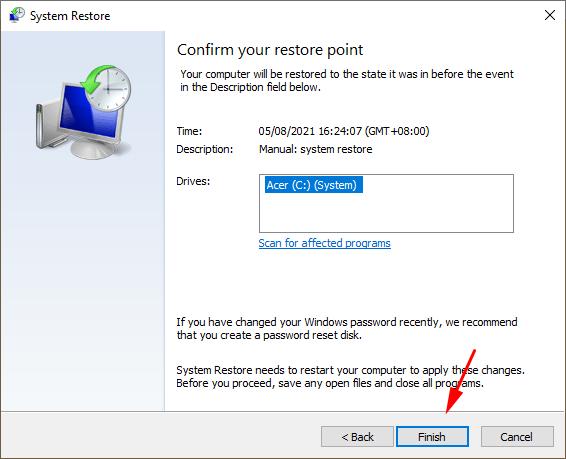 Cara Restore Windows 10