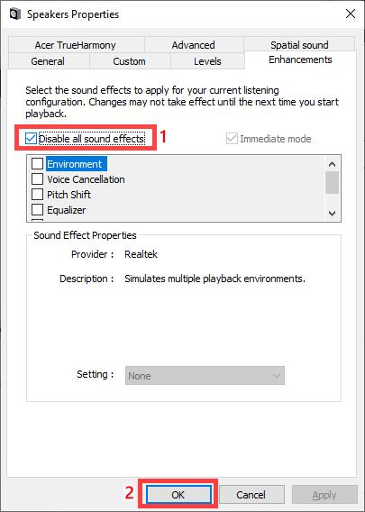 suara speaker laptop kecil pecah hilang